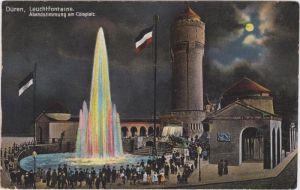 Düren Leuchtfontaine, Abendstimmung am Cölnplatz
