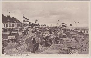 Dahme (Ostsee) Strandhaus und Strandleben (Patriotika)