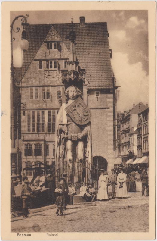Bremen Markttreiben am Roland