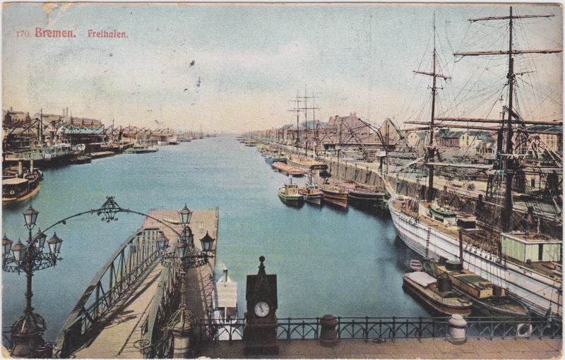 Bremen Freihafen und Seebrücke