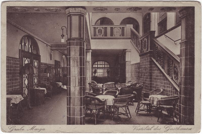 Brieske-Senftenberg (Niederlausitz) Grube Marga - Vestibül des Gasthauses