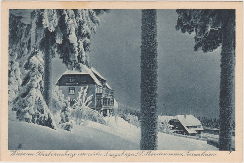 Oberbärenburg-Altenberg (Erzgebirge) Häuser im Winter