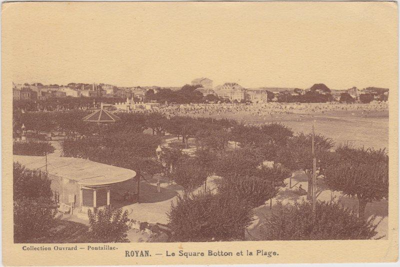 Royan Le Square Botton et la Plage Charente-Maritime CPA  1932