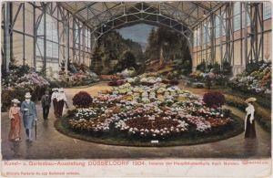 Düsseldorf Kunst und Gartenaustellung - Inneres Blumenhalle