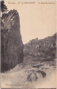 Le Saillant Le Saut du Saumon  Ansichtskarte CPA Corrèze 1919