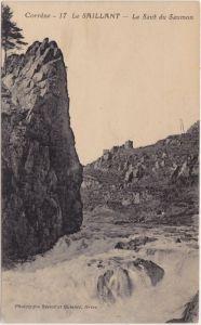 Le Saillant Le Saut du Saumon CPA Ansichtskarte France Corrèze 1919