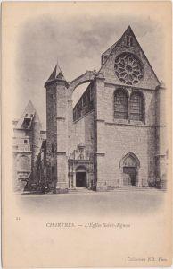 Chartres Kirche L'Église Saint-Aignan 1900