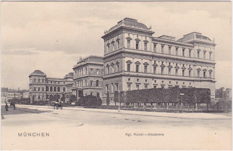 München Strassenpartie an der Kunstakademie