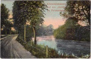 Bad Rothenfelde Abendstimmung auf der Gräfte zu Palsterkamp 1905
