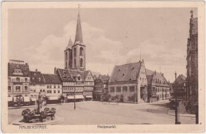 Halberstadt Partie am Holzmarkt - Geschäfte 1920