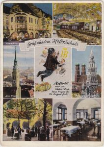 München Mehrbild: Hofbräuhaus mit Festsaal,