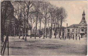 Bazancourt (Marne) Bazancourt (Marne) Place de l'église 1917