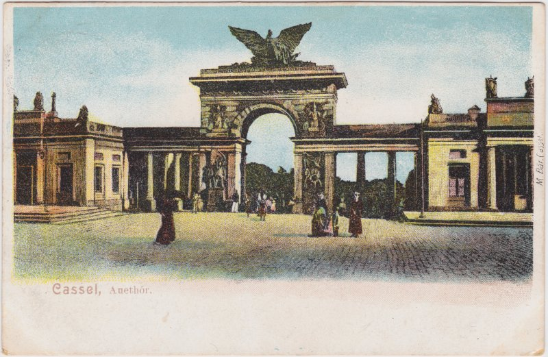 Ansichtskarte Kassel Cassel Partie am Auetor / Auethór 1907
