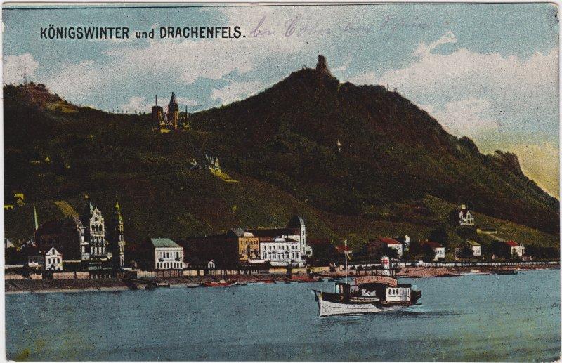 Königswinter Stadt, Drachenfels und Dampfer