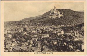 Hasserode-Wernigerode Panorama mit Schloß 1929
