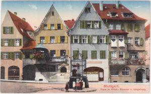 Stuttgart Hans im Glück-Brunnen, Geschäfte