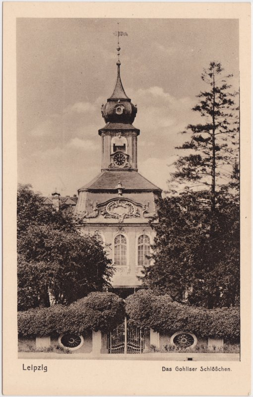 Gohlis-Leipzig Gohliser Schlösschen 1922