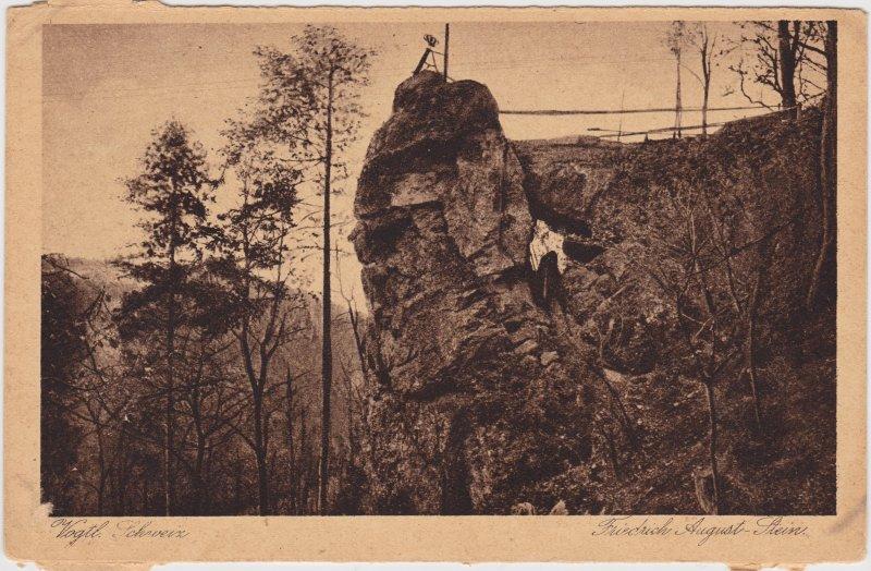 Jocketa-Pöhl Auf dem Friedrich-August-Stein 1930