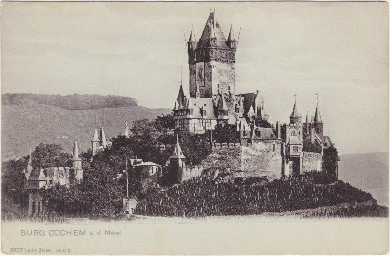 Cochem Kochem Blick auf die Burg Cochem 1913