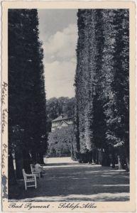 Bad Pyrmont Schloss-Allee in Bad Pyrmont 1940