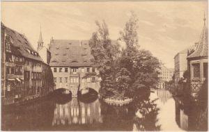 Nürnberg Blick von der Museumsbrücke