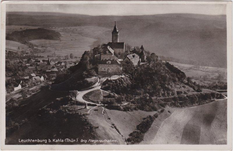 Kahla (Thüringen) Luftbild Leuchtenburg