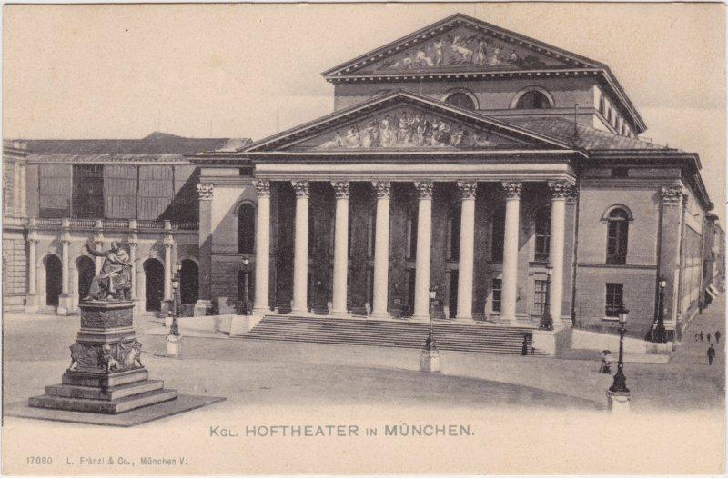 München Königliches Hof- und Nationaltheater München mit Vorplatz 1913