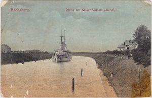 Hochdonn Partie am Kaiser Wilhelm Kanal Rendsburg 1917