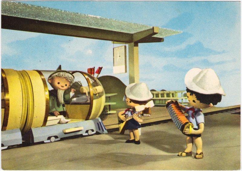 Das Sandmännchen im Zug und musizierende Kinder