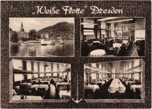 Dresden 4-Bild: Weiße Flotte mit Innenansichten