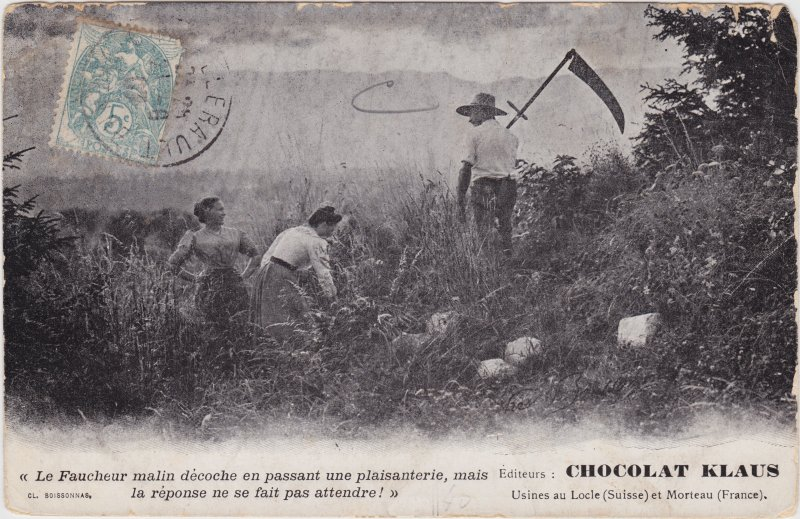 Auf dem Maisfeld - Werbung  CHOCOLAT KLAUS