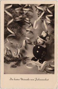 Die besten Wünsche zum Jahreswechsel Ansichtskarte 1956