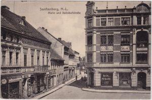 Senftenberg (Niederlausitz) Markt und Bahnhofstraße