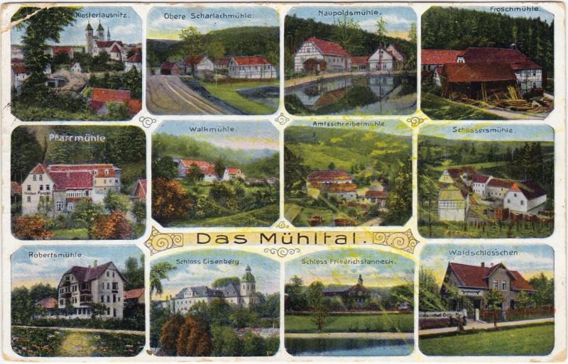 Friederichstanneck-Eisenberg (Thüringen) Mehrbild: Mühlen (u.a. Naupoldsmühl, Froschm&uuml