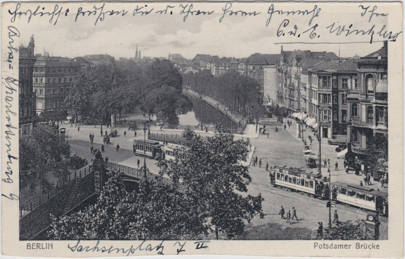 Tiergarten-Berlin Partie an der Potsdamer Brücke 1929