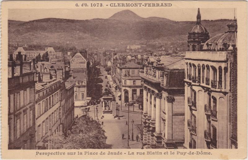 Clermont-Ferrand Panorama: Place de Jaude, rue Blatin, Puy-de-Dome 1926