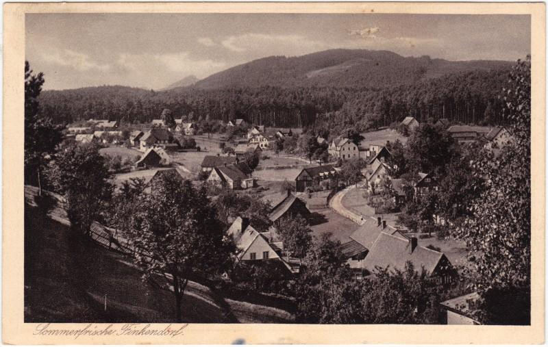 Finkendorf-Ringelshain Polesí Rynoltice Dorfpartie 1932