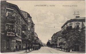 Landsberg (Warthe) Gorzów Wielkopolski Hindenburg Strasse 1917