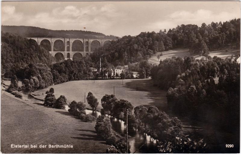 Barthmühle-Pöhl Partie an der Barthmühle 1929
