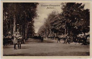 Zeithain Truppenübungsplatz - geschäftiges Treiben 1914