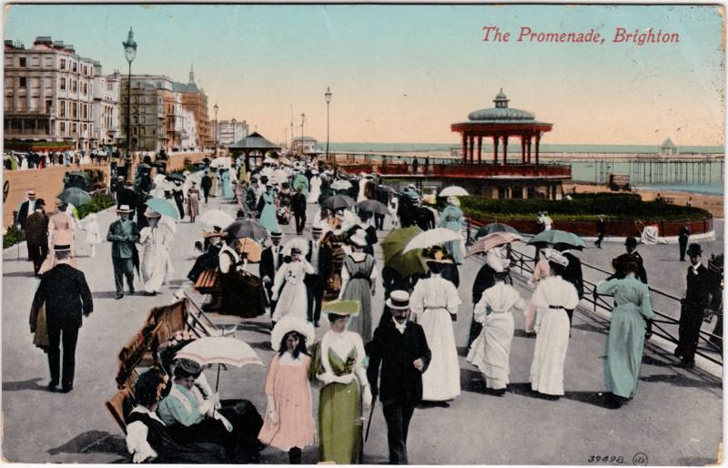 Brighton Belebte Promenade 1913