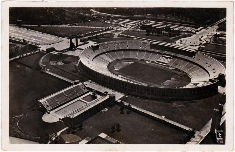 Charlottenburg-Berlin Reichssportfeld, Olympia Stadion - Fliegeraufnahme 1936