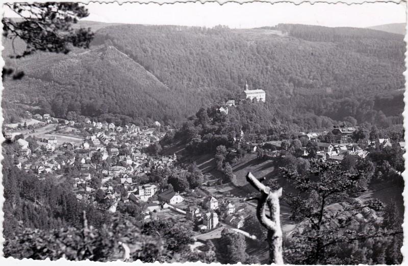 Schwarzburg Trippsteinblick Foto Ansichtskarte  1960