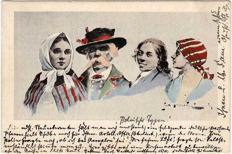 Polen (Allgemein) Polnische Typen - Mann und Frauen 1915