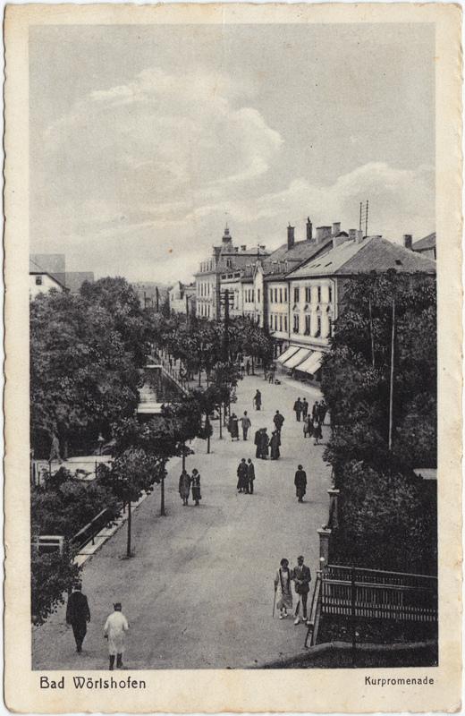 Bad Wörishofen Kurpromenade 1932