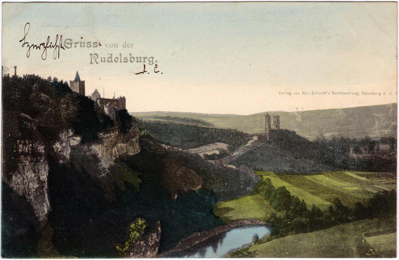 Saaleck-Bad Kösen Blick zur Rudelsburg 1899