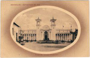 Brüssel Bruxelles Exposition de 1910 - Palais des Colonies Francaises 1910