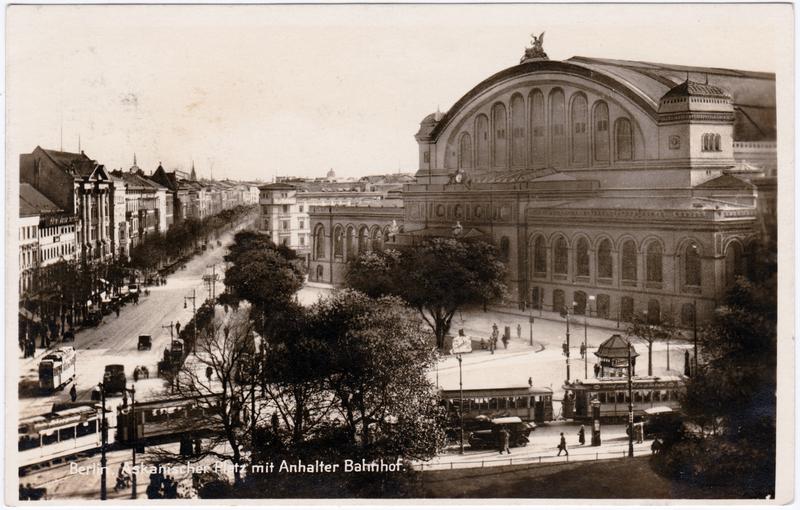 Kreuzberg-Berlin Askanischer Platz mit Anhalter Bahnhof 1926