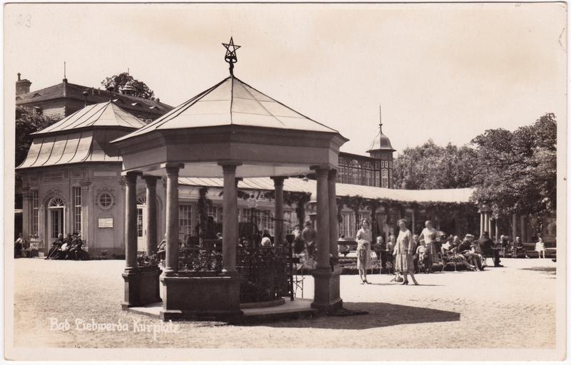 Bad Liebwerda Lázně Libverda Partie am Kurplatz 1929