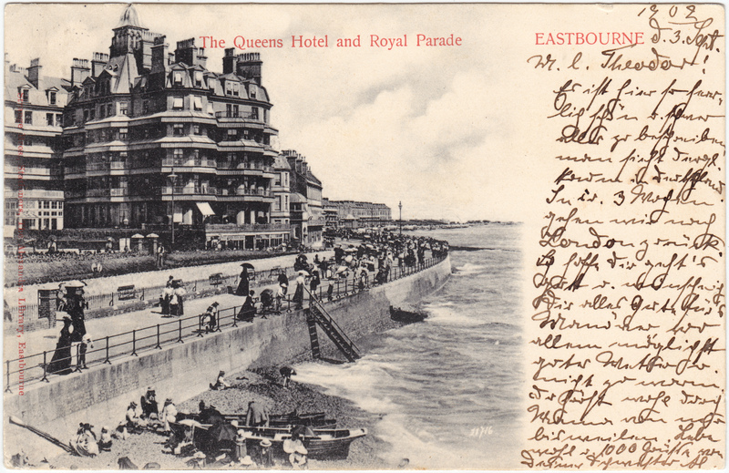 Eastbourne The Queens Hotel and Royal Parade 1902